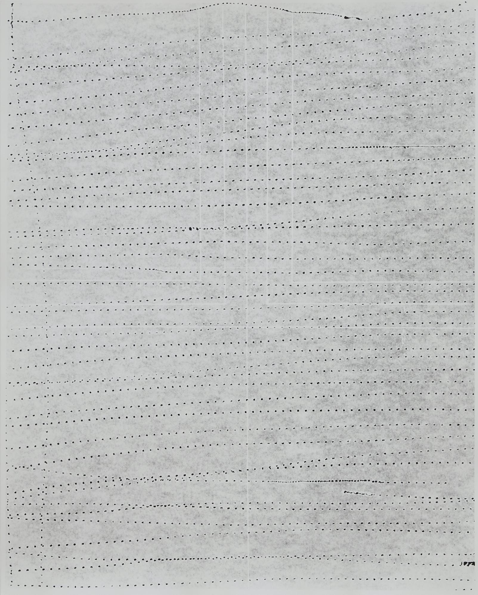 Practice Piece (Sewing Excerise #8W), 2019, Silver gelantin print, 53 x 40cm
