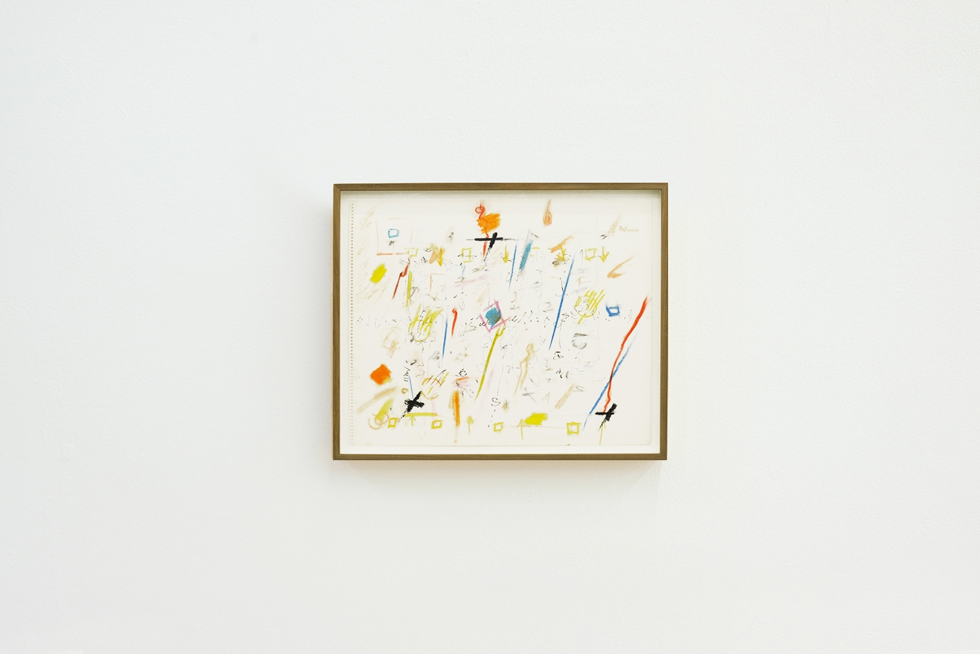 Untitled, 1990, Crayon and ink on paper, 37 x 45.4 cm
