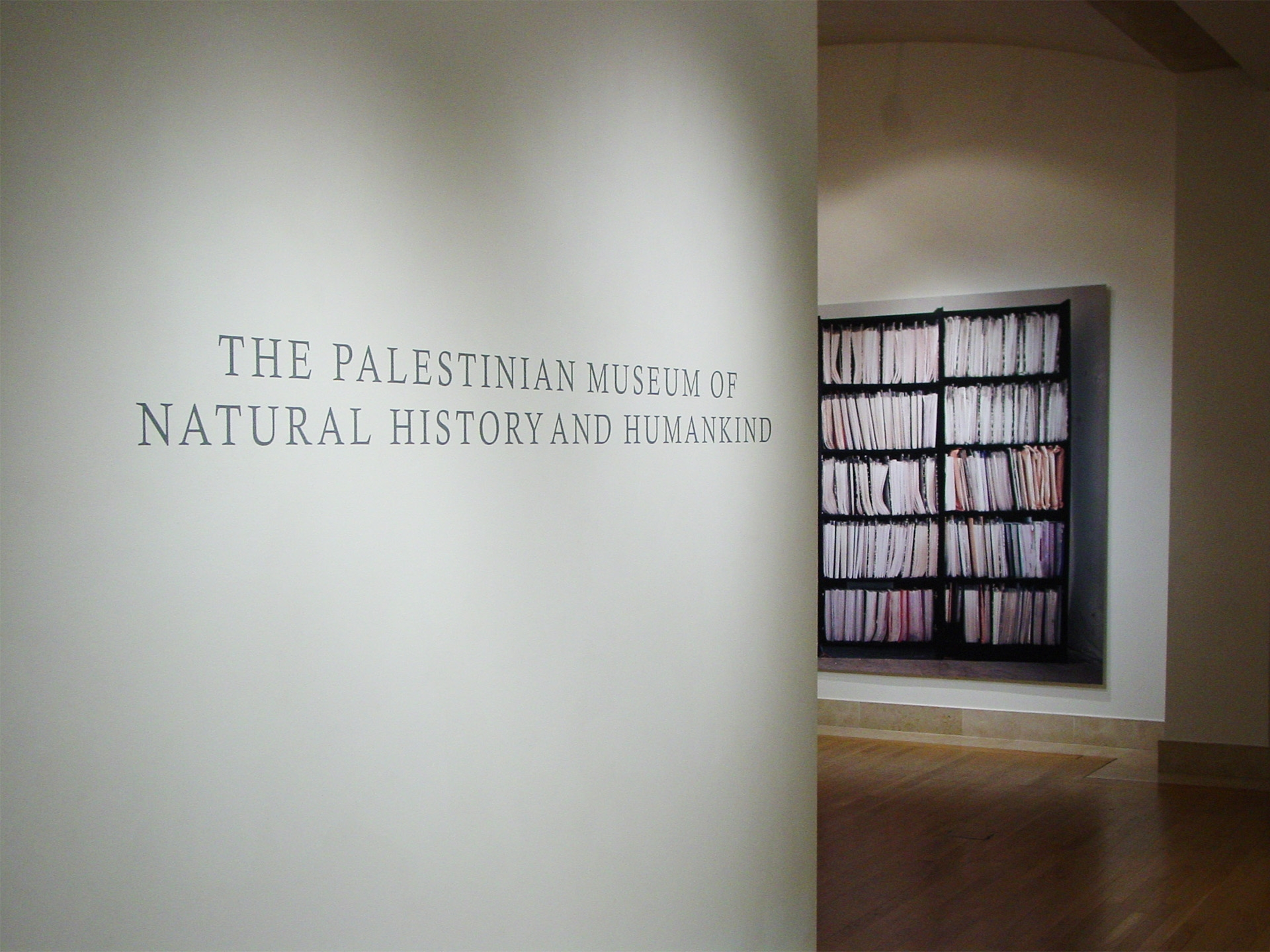 50320 Names, 2007, installation view.Exhibition view, Brunei Gallery, London