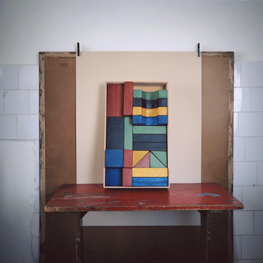 Untitled (Tangier Studio Series, Lyautey unit blocks prototype, Caracharodontosaurus toy), 2012-2015, chromogenic print, 30 x 30 cm