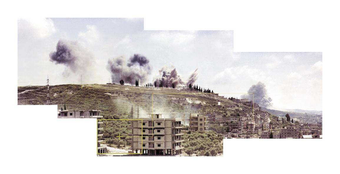 Saida June 6, 1982, showing camera movements, 2006-09, Composite Image, 112 x 210 cm
