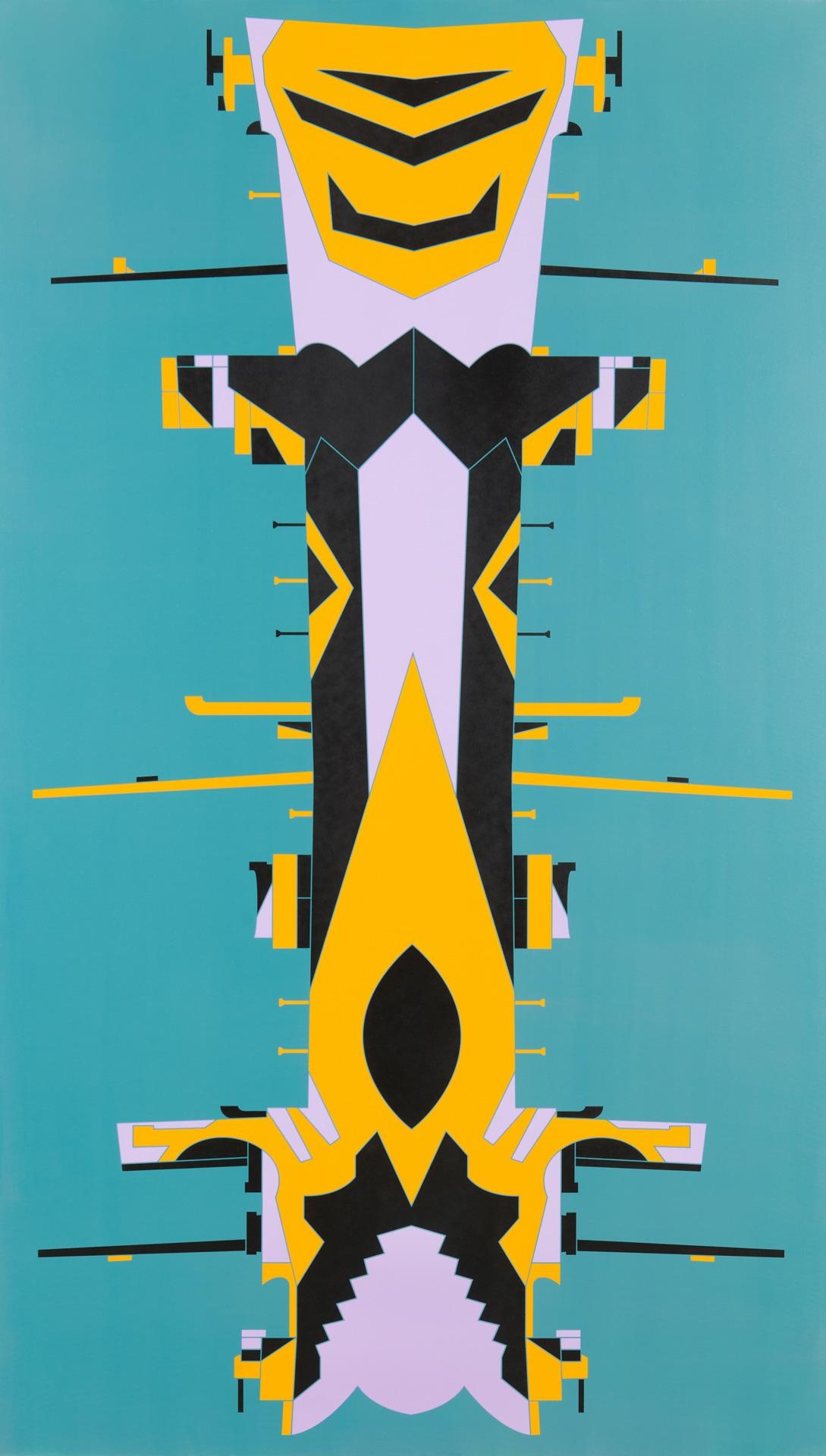 Timo Nasseri, DAZ0031, 2018, Acrylic on canvas, 275 x 158 x 4,5 cm