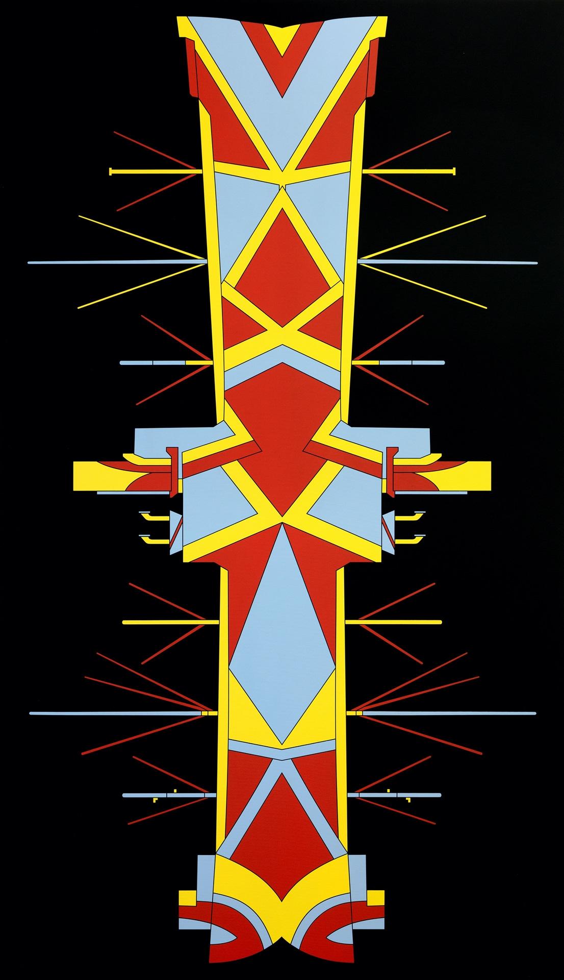 Timo Nasseri, DAZ0022, 2018, Acrylic on canvas, 275 x 158 x 4,5 cm
