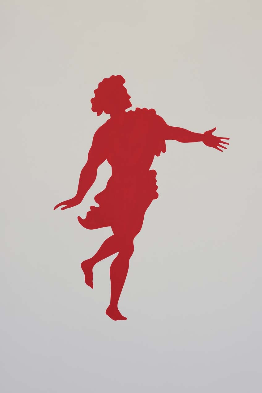 Apollo and Daphne, 1987, Wall painting, Variable dimensions, Unique, Detail 2