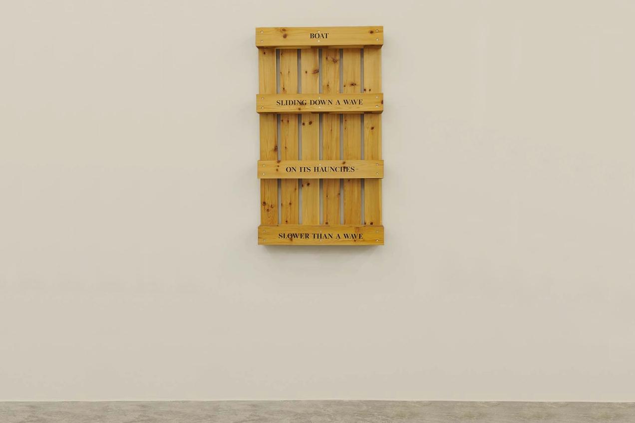 Boat/Sliding Down, 1998 with Jim Brennan, Wood, 120 x 70 x 16 cm, Unique