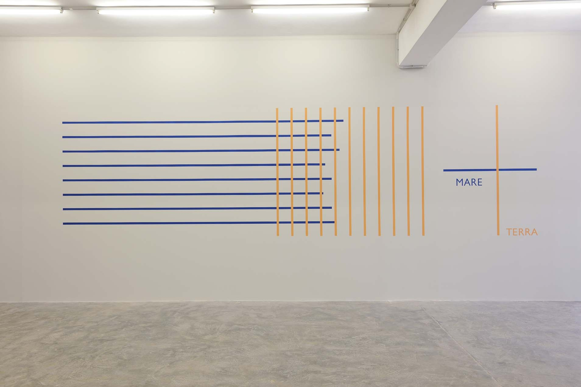 Mare Terra, 2002 (Design from 1973), Wall painting, Variable dimensions, Unique