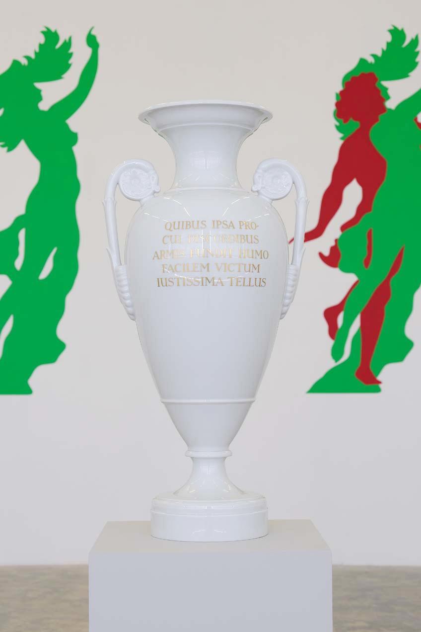 On Whom, Far From ... From Virgil's Georgics (design after Karl Friedrich Schinkel, 1820-30), 2004, Porcelain vase, 70 x 35 cm, Unique