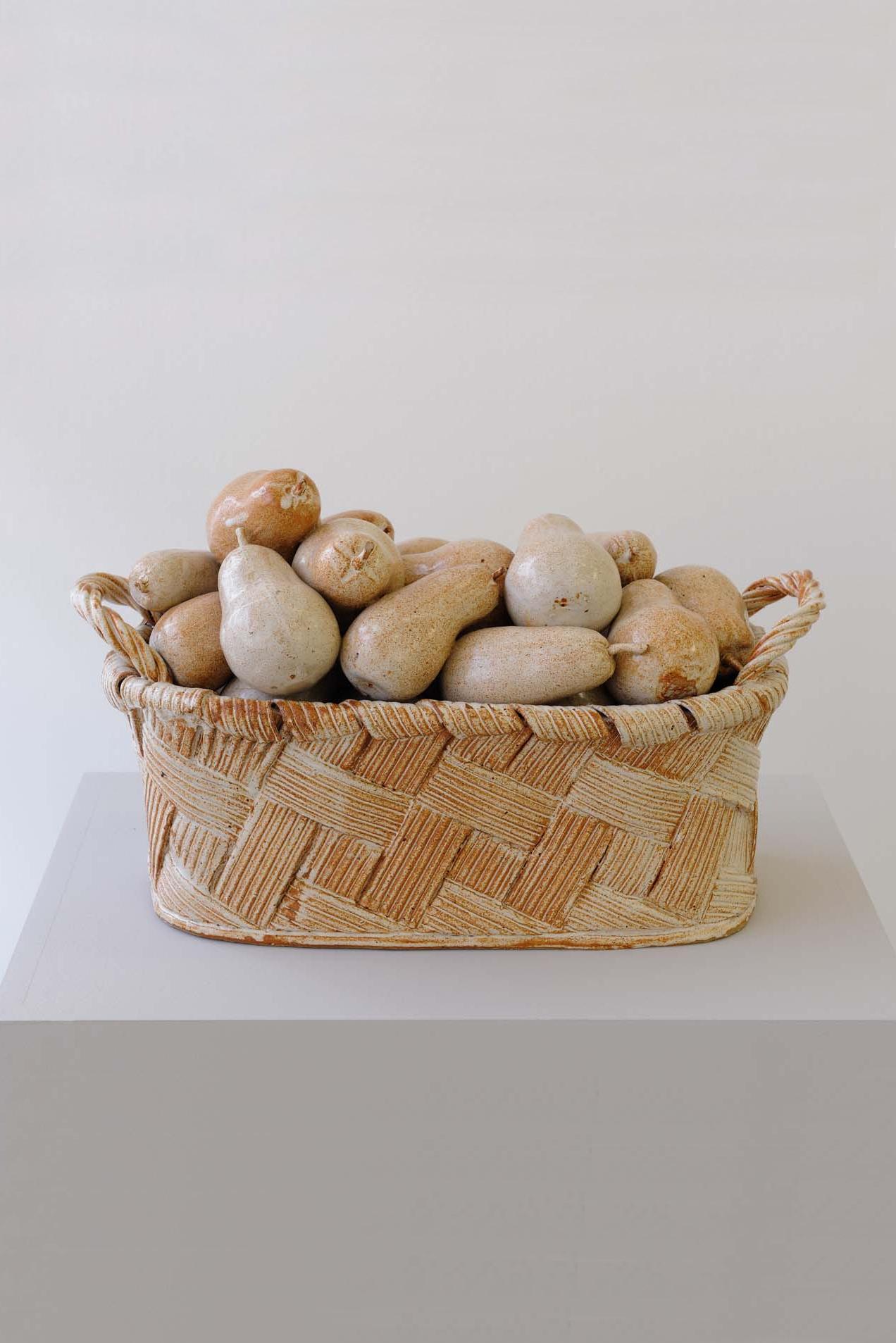 Pear Basket, 1989, Pottery, 49 x 29 x 23.5 cm, Unique
