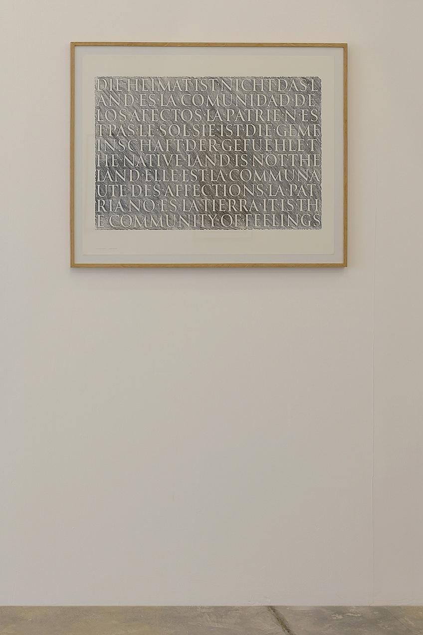 Die Heimat ist nicht das Land, 1995 with Andrew Whittle, Silkscreen, 66 x 84 cm, Ed. 75