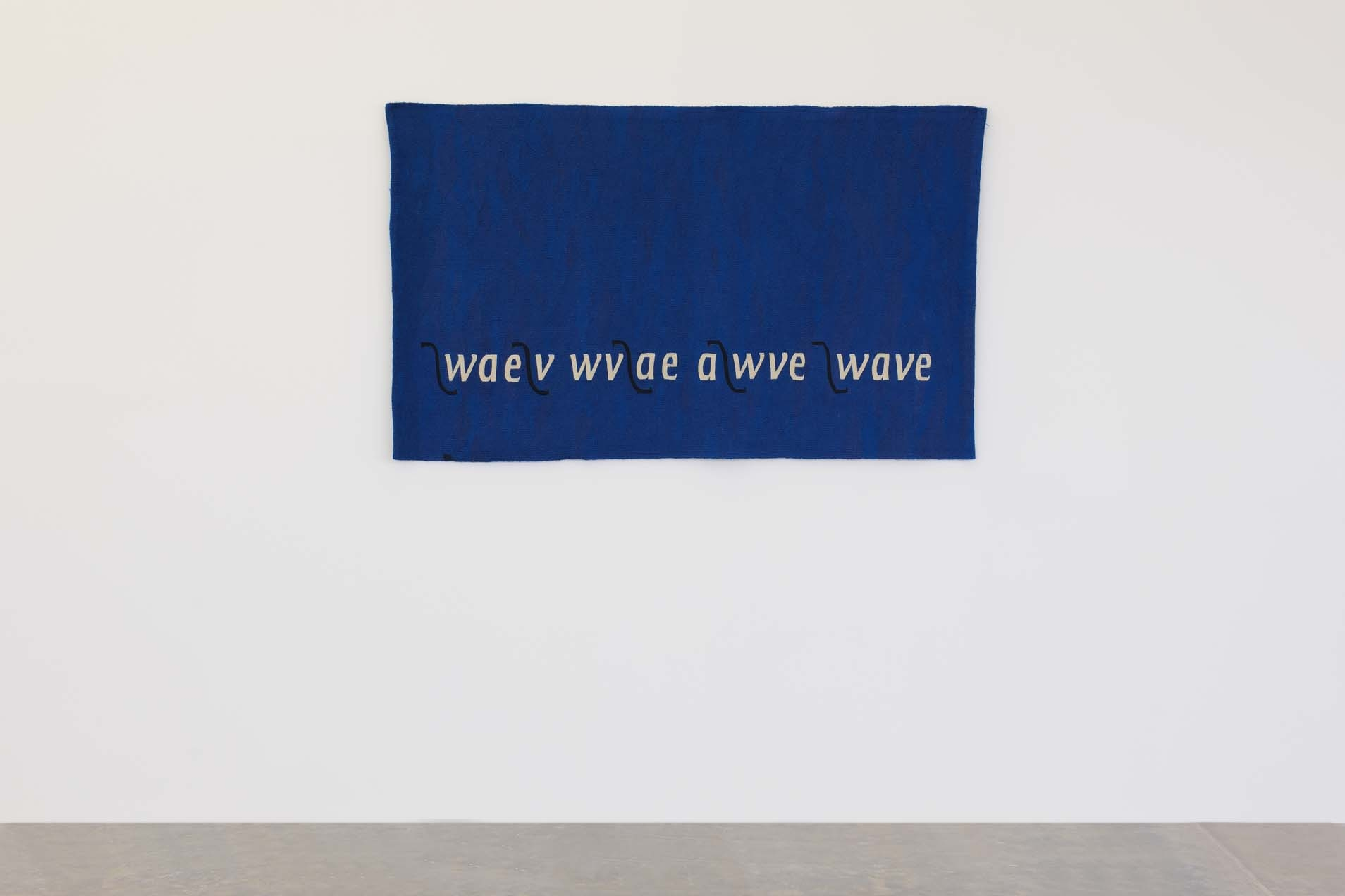 Wave, 1989 with Michael Harvey and Joanna Soroka, Tapestry, wool, 99 x 165 cm, Unique