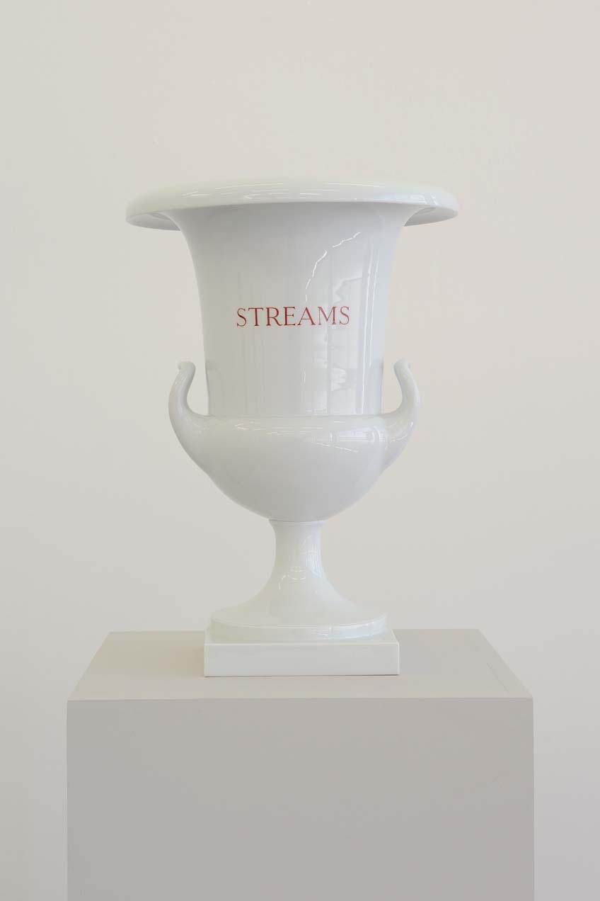 Winds, Woods, Streams, Seas (design after Carl Friedrich Riese, 1799), 2003, 4 Porcelain vases, 43 x 30 cm each, Unique, Streams
