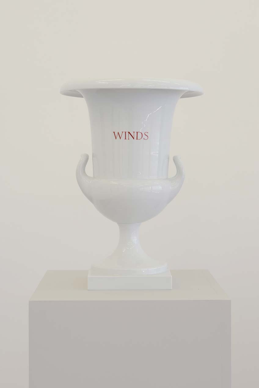 Winds, Woods, Streams, Seas (design after Carl Friedrich Riese, 1799), 2003, 4 Porcelain vases, 43 x 30 cm each, Unique, Winds