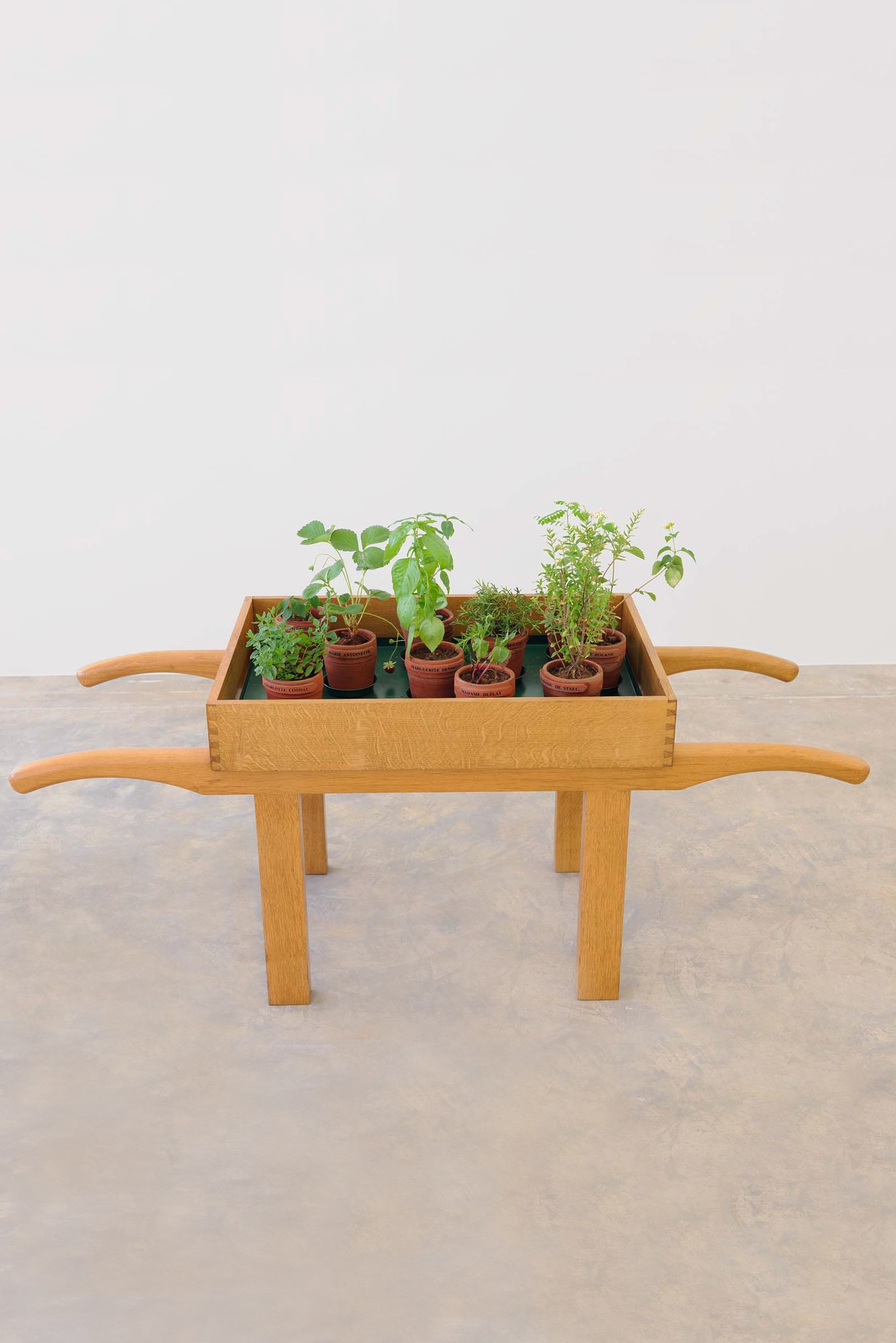 Women of the Revolution, 1993 with Keith Brookwell, Flower stand, 10 ceramic wildflower pots, 140 x 150.5 x 60 cm, Unique