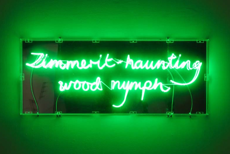 Zimmerit-haunting Wood Nymph, 1991 with Julie Farthing, Neon, 61 x 152 x 7 cm, Unique
