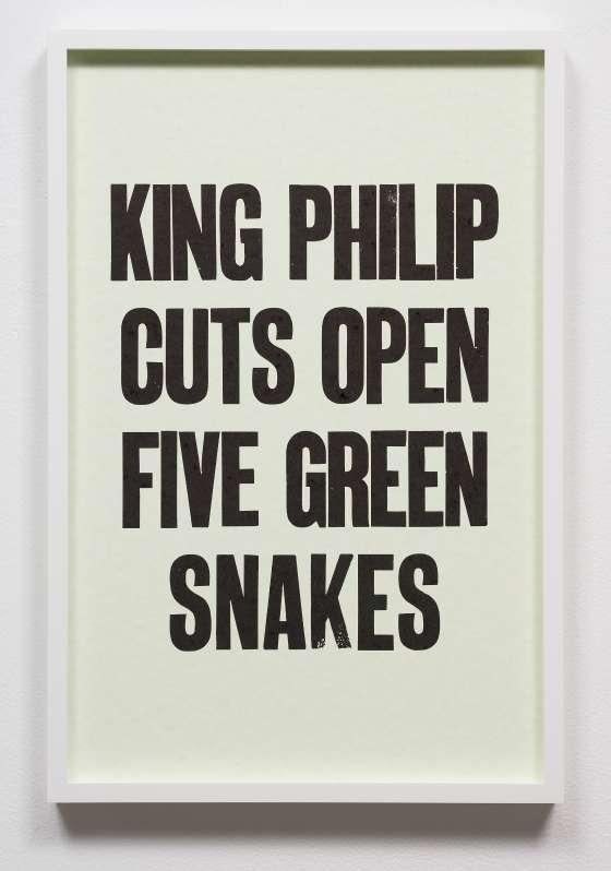 Mnemonic Phrases, 2019, set of 10 letterpress prints, 48.26 x 31.75 cm each