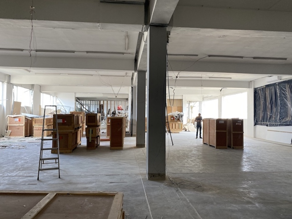 Beirut gallery, clean-up in progress