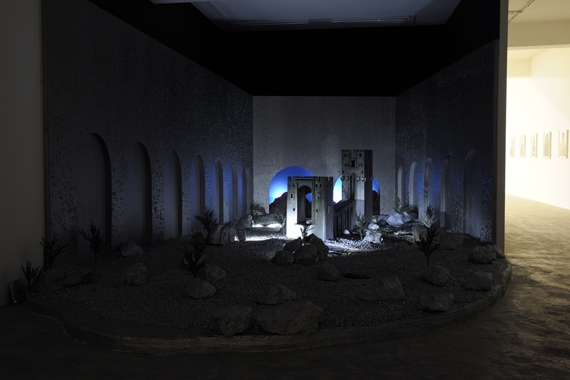 Cabaret Crusades: The Horror Show File, Scenography, 2010, Mixed media installation, Installation view, Sfeir-Semler Gallery Beirut