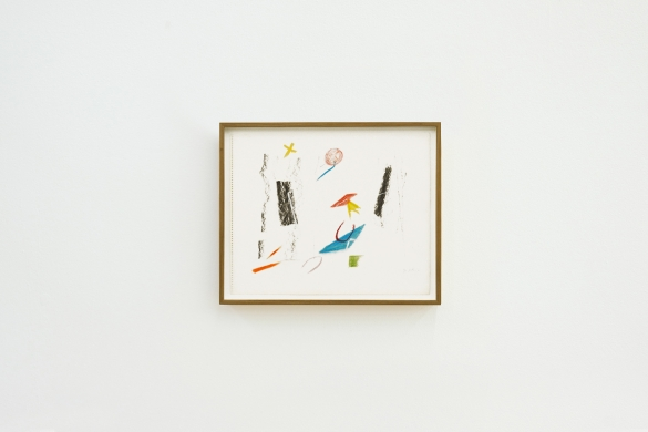 Untitled, 1990, Crayon and chalk on paper, 37 x 45.4 cm