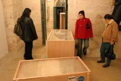 3rd Annual Wall Zone Auction, 2004, Exhibition view, Khalil Sakakini Cultural Centre, Ramallah