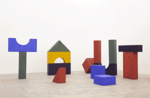 Lyautey Unit Blocks, 2010, wood, paint, dimensions variable
