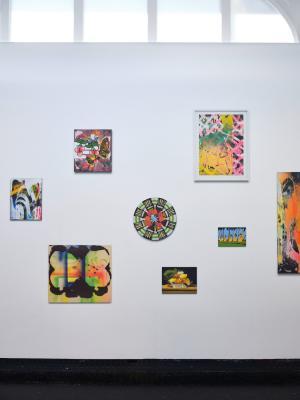 Christine Streuli, Kurze Arme, lange Beine, Exhibition view, Kunstmuseum Thun, 2020