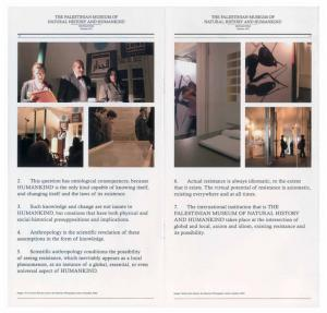The Palestinian Museum of Natural History and Humankind, Newsletter, Summer 2011