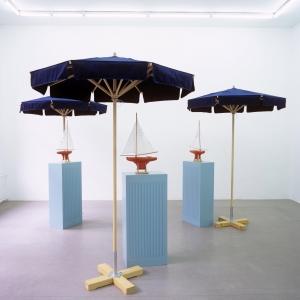 3 Sailboats, 1994 with Jim Brennan, Installation, wood, canvas, etc., 12 parts, Dimensions Variable