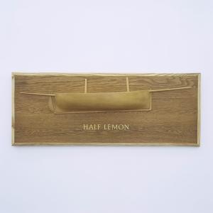 Half Lemon, 1998 with Keith Brookwell, Wood, 39 x 82 x 2 cm