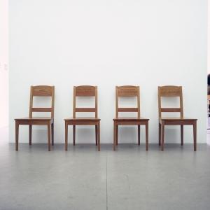 Sails, 2000 with Adam Jackson, 4 cherry wood chairs, 92 x 50 x 43 cm each