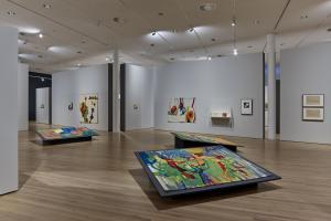 Etel Adnan, 2018, Exhibition view, Zentrum Paul Klee, Bern