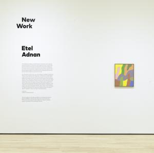 New Work: Etel Adnan, 2018, Exhibition view, SFMOMA